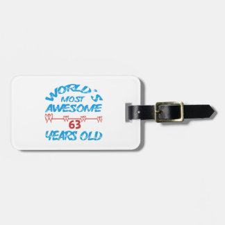 World's most awesome 63 years old tag for bags