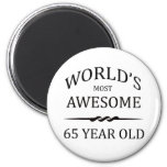 World's Most Awesome 65 Year Old Fridge Magnet