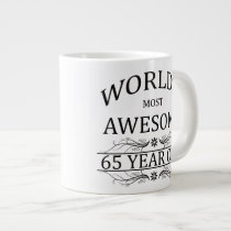 World's Most Awesome 65 Year Old Large Coffee Mug