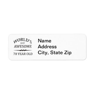World's Most Awesome 70 Year Old Return Address Labels