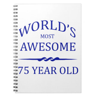 World's Most Awesome 75 Year Old Spiral Notebook