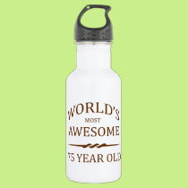 World's Most Awesome 75 Year Old Stainless Steel Water Bottle