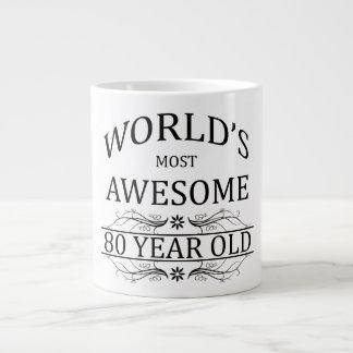 World's Most Awesome 80 Year Old 20 Oz Large Ceramic Coffee Mug