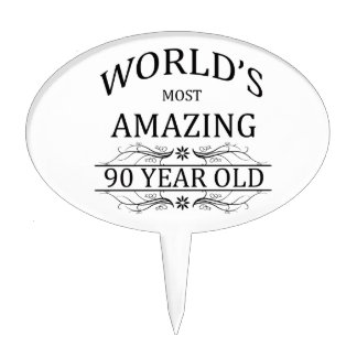 World's Most Awesome 90 Year Old Cake Topper