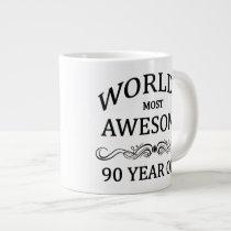 World's Most Awesome 90 Year Old Large Coffee Mug