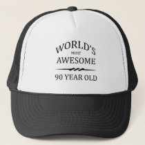 World's Most Awesome 90 Year Old Trucker Hat