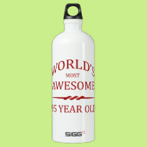 World's Most Awesome 95 Year Old. Aluminum Water Bottle