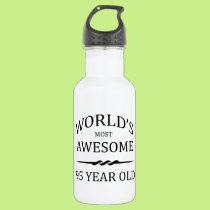World's Most Awesome 95 Year Old Stainless Steel Water Bottle