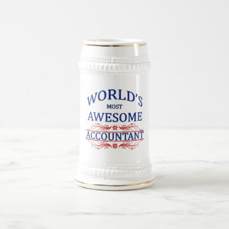 World's Most Awesome Accountant Beer Stein