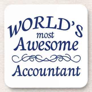 World's Most Awesome Accountant Beverage Coaster