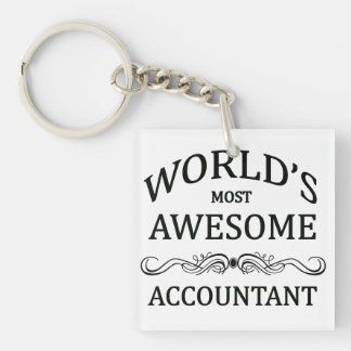 World's Most Awesome Accountant Keychain