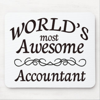 World's Most Awesome Accountant Mouse Pad