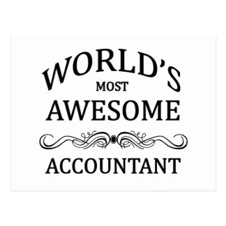 World's Most Awesome Accountant Post Cards