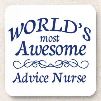World's Most Awesome Advice Nurse Coasters