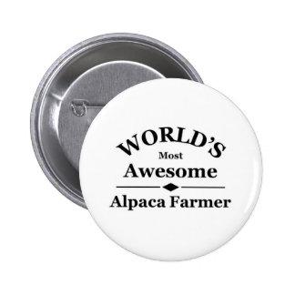 World's most awesome Alpaca Farmer Button