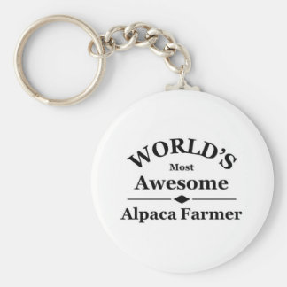 World's most awesome Alpaca Farmer Keychain