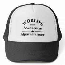 World's most awesome Alpaca Farmer Trucker Hat