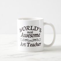 World's Most Awesome Art Teacher Coffee Mug