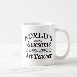 World's Most Awesome Art Teacher Coffee Mug