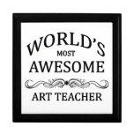 World's Most Awesome Art Teacher Gift Box