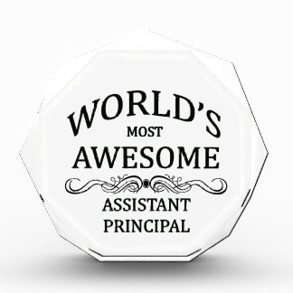 World's Most Awesome Assistant Principal Acrylic Award