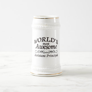 World's Most Awesome Assistant Principal Beer Stein