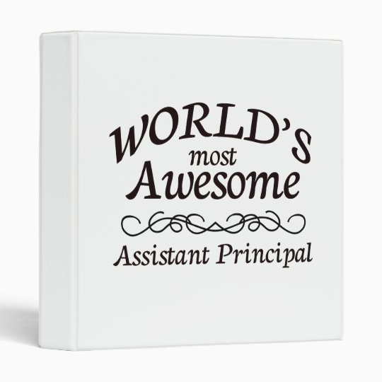 World's Most Awesome Assistant Principal Binder
