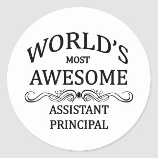 World's Most Awesome Assistant Principal Classic Round Sticker