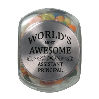 World's Most Awesome Assistant Principal Glass Candy Jar
