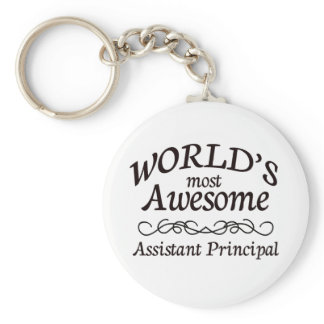 World's Most Awesome Assistant Principal Keychain
