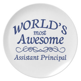 World's Most Awesome Assistant Principal Melamine Plate