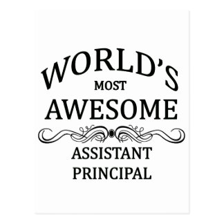 World's Most Awesome Assistant Principal Postcard