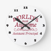 World's Most Awesome Assistant Principal Round Clock