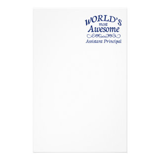 World's Most Awesome Assistant Principal Stationery