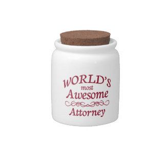 World's Most Awesome Attorney Candy Jars