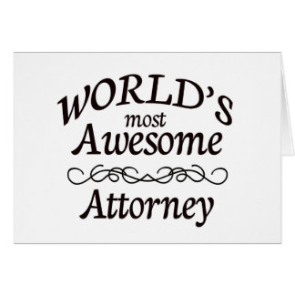 World's Most Awesome Attorney Card