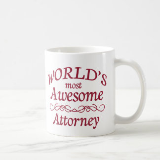World's Most Awesome Attorney Classic White Coffee Mug