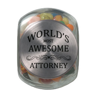 World's Most Awesome Attorney Glass Candy Jar