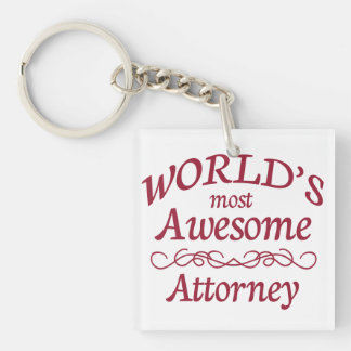 World's Most Awesome Attorney Keychain