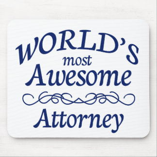 World's Most Awesome Attorney Mouse Pads