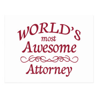 World's Most Awesome Attorney Postcard