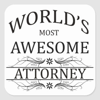 World's Most Awesome Attorney Square Sticker