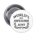 World's Most Awesome Aunt Button