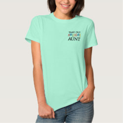 Embroidered Aunt Gifts Women's Embroidered Basic T-Shirt
