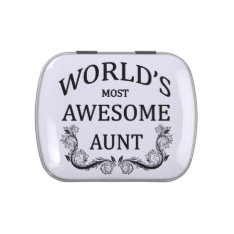 World's Most Awesome Aunt Jelly Belly Tin at Zazzle