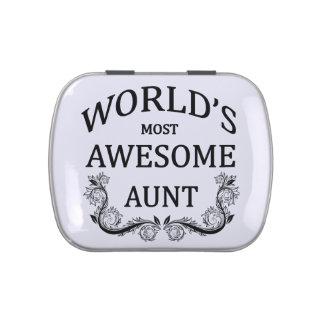 World's Most Awesome Aunt Jelly Belly Tin