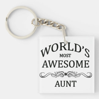 World's Most Awesome Aunt Keychain