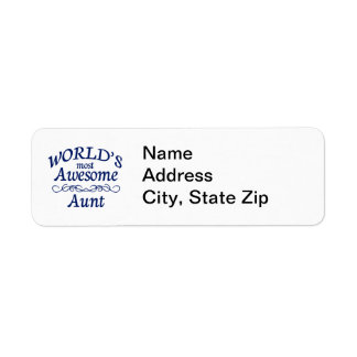 World's Most Awesome Aunt Return Address Label