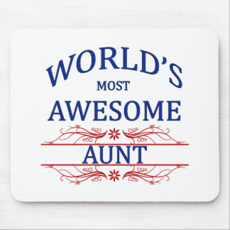 World's Most Awesome Aunt Mouse Pad