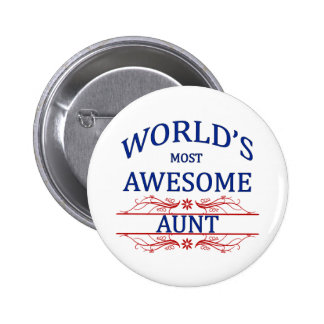 World's Most Awesome Aunt Pinback Button